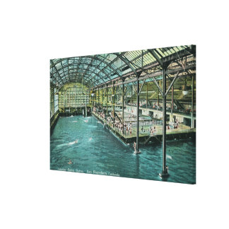 Interior View of the Indoor Sutro Baths Stretched Canvas Prints