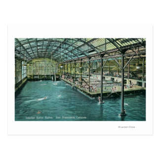 Interior View of the Indoor Sutro Baths Postcard