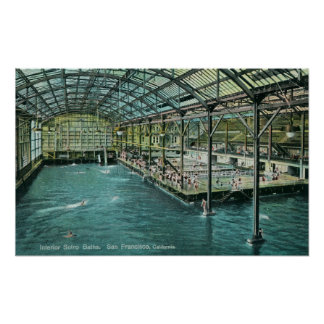Interior View of the Indoor Sutro Baths Posters