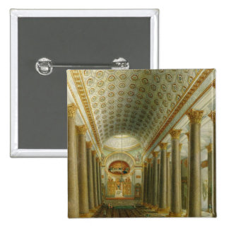 Interior view of the Kazan Cathedral Pinback Button