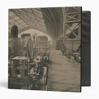 Interior view of the machinery hall, from 'L'Album 3 Ring Binders