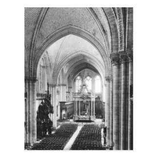 Interior view of the nave and the choir postcard