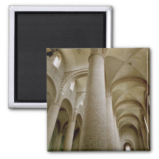 Interior view of the nave and the vaulting 2 inch square magnet