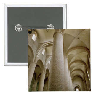Interior view of the nave and the vaulting pinback button