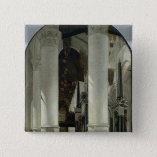 Interior view of the New Church in Delft Pinback Button