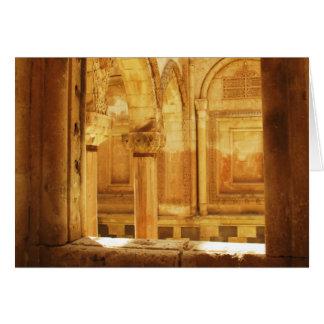 Interior view of the palace İshak Paşa Sarayı Card