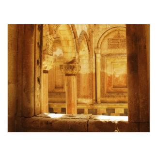 Interior view of the palace İshak Paşa Sarayı Postcard