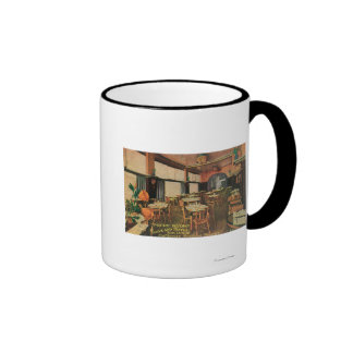 Interior View of the Poppy Room at Maryland Hote Ringer Coffee Mug