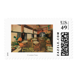 Interior View of the Poppy Room at Maryland Hote Postage Stamp