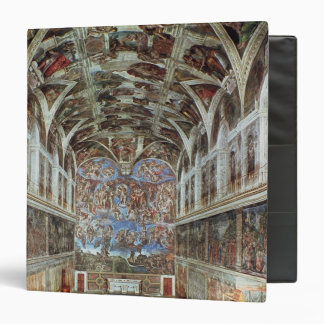 Interior view of the Sistine Chapel 3 Ring Binder