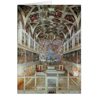 Interior view of the Sistine Chapel Card