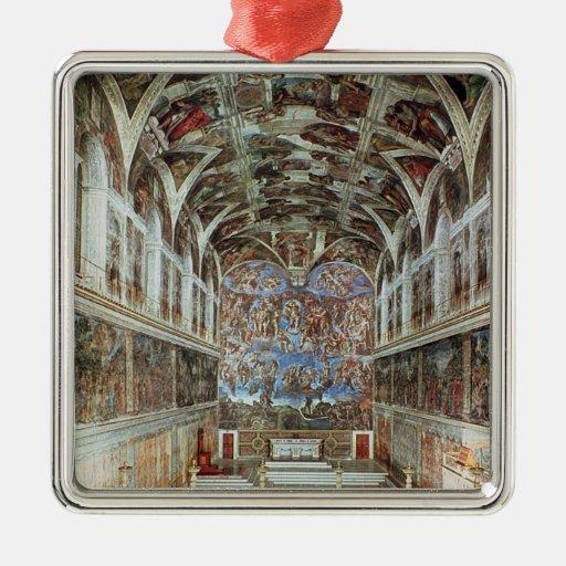 Interior view of the Sistine Chapel Christmas Tree Ornaments