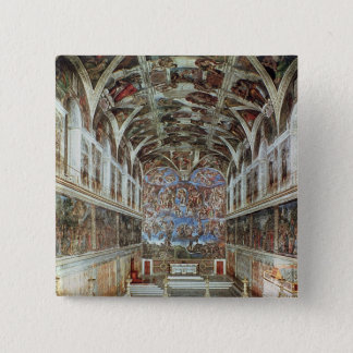 Interior view of the Sistine Chapel Pinback Button