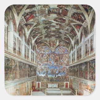 Interior view of the Sistine Chapel Square Sticker