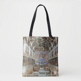Interior view of the Sistine Chapel Tote Bag