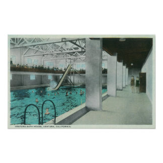 Interior View of the Ventura Bath House Poster