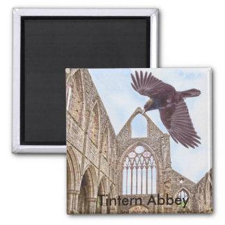 Interior View of Tintern Abbey w Crow - Wales, UK Fridge Magnet