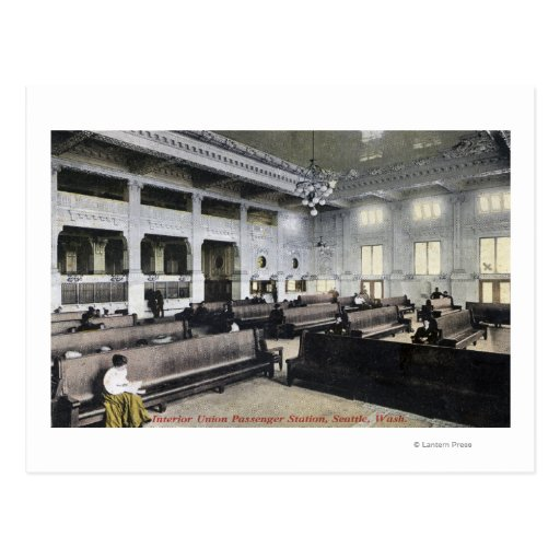Interior View of Union Station Post Card