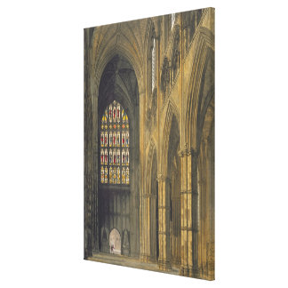 Interior View of Westminster Abbey Looking Towards Canvas Print