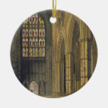 Interior View of Westminster Abbey Looking Towards Double-Sided Ceramic Round Christmas Ornament