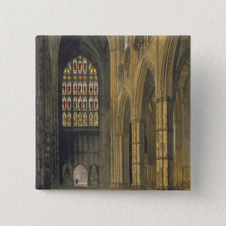 Interior View of Westminster Abbey Looking Towards Pinback Button