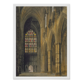 Interior View of Westminster Abbey Looking Towards Poster