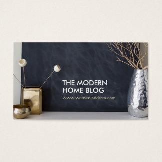 INTERIOR VIGNETTE PHOTO on MODERN Business Card