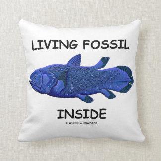 Interior vivo del fósil (Coelacanth) Cojín