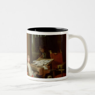 Interior with a Lady at a Harpsichord Coffee Mug