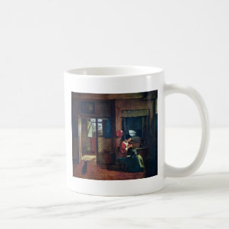 Interior With A Mother Delousing Her Child'S Hair Mug