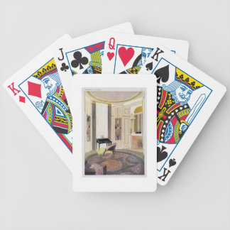 Interior with furniture designed by Ruhlmann, from Poker Deck