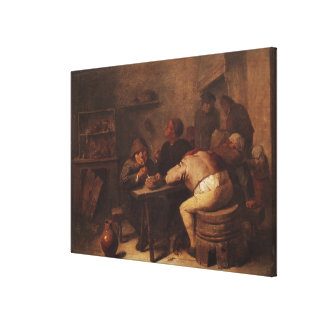 Interior with Smokers Gallery Wrapped Canvas