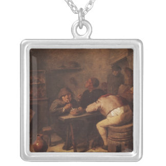 Interior with Smokers Silver Plated Necklace