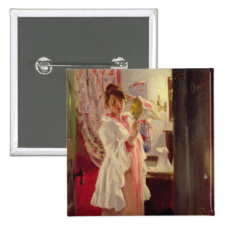 Interior with the Artist's Wife, 1889 Pinback Button