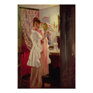 Interior with the Artist's Wife, 1889 Poster