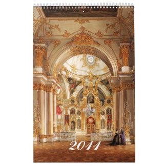 Interiores del calendario del palacio del invierno