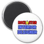 Interiorista de la estrella del rock imán para frigorífico