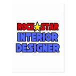 Interiorista de la estrella del rock tarjetas postales