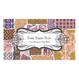 Interiorista/decorador profesionales tarjetas de visita