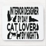 Interiorista del amante del gato alfombrilla de ratones