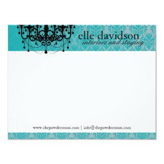 """Interiorista elegante Notecards Invitación 4.25"""" X 5.5"""""""