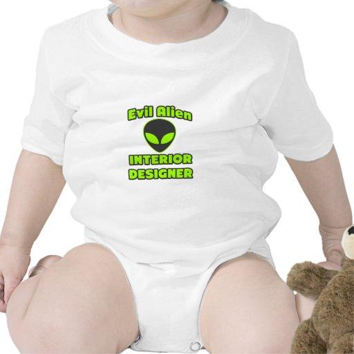 Interiorista extranjero malvado trajes de bebé