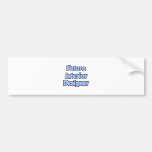 Interiorista futuro etiqueta de parachoque