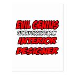 Interiorista malvado del genio… postal