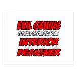 Interiorista malvado del genio… tarjetas postales