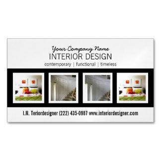 Interiorista profesional intrépido con las fotos tarjetas de visita magnéticas (paquete de 25)