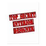 Interiorista secretísimo tarjeta postal