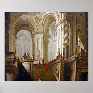 Interiors By Gianmasttista Tiepolo Poster