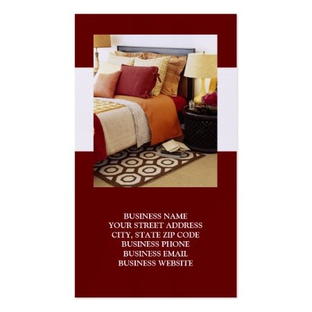 Stylish Red and White Design Bed and Breakfast Business Cards
