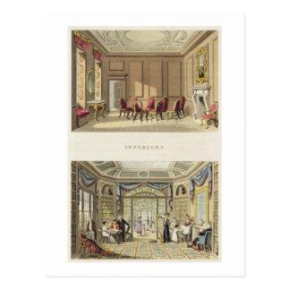 Interiors: The Old Cedar Parlour and The Modern Li Postcard